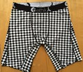 New Ethika The Staple Print Men's Long Boxer White Black Check