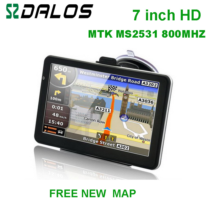 7 Inch HD Car GPS Navigator 800M FM 4GB 128MB New Maps For Europe USA Canada
