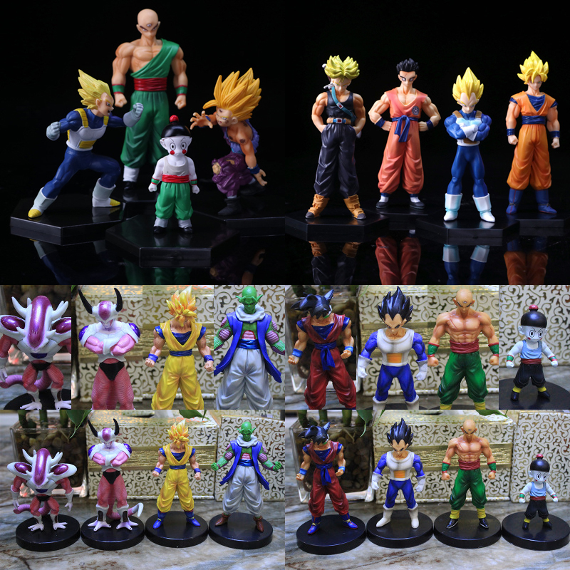 Color 5 Is No Stock , 4pcs/set Dragon Ball Z 12cm PVC Action Figure Toys Model Collect  Figurines Doll  Free Shipping
