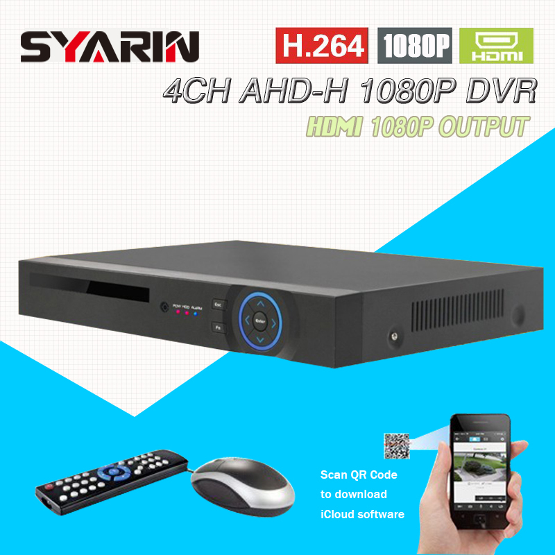 4CH CCTV System home surveillance NVR 4 channel AHD-H 1080P HDMI Standalone security WIFI video recorder T-G04D10PB02 defeway hd 1080p hdmi 4ch cctv system 4 channel dvr kit 720p video recorder with 1200tvl security camera home surveillance