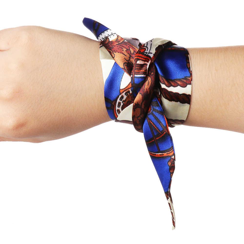 1 шт. Горячая мини саржа цветочный шарф ручка галстук сумка ремень сумка Аксессуары повязка галстук-бабочка сумка с украшением аксессуары