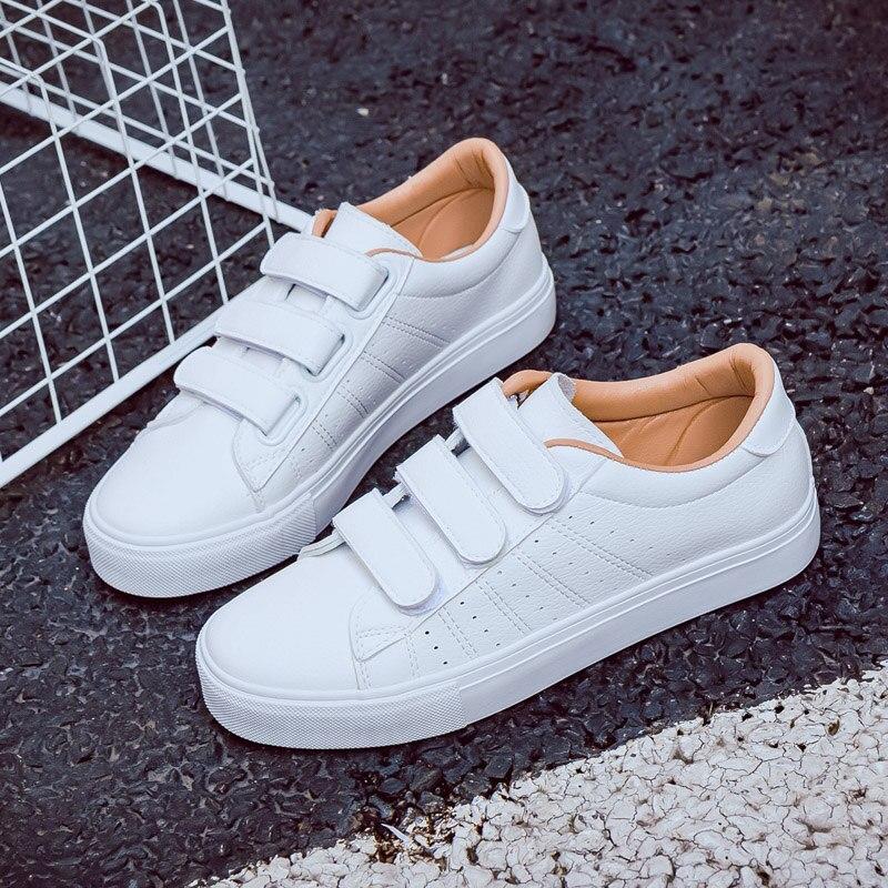 Frauen Schuhe Schuhe Neue Mode Frauen Schuhe Casual Hohe Plattform Loch Pu Leder Gestreiften Einfache Frauen Casual Weiß Schuhe Turnschuhe Sommer