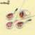Sintético Rojo Granate Blanco Gota de agua Circón 925 Anillo de Plata de La Joyería Tamaño 6/7/8/9/10 de Regalo de Navidad Para Las Mujeres