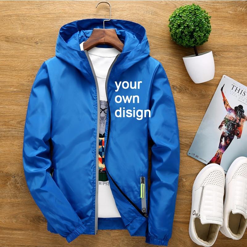 2019 S-6XL twój własny projekt marka Logo/obraz biały niestandardowe mężczyźni i kobiety kurtki Plus rozmiar kurtka mężczyźni odzież Outdoor SA-8
