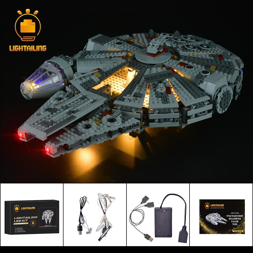 LIGHTAILING LED Lumière Kit Pour Star Wars Millennium Falcon Building Block Modèle Lumière Ensemble Compatible Avec 05007 Et 75105
