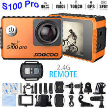 "UltraHD 4K Motion Digital camera SOOCOO S100 Professional HD 2.zero""LCD Contact Display screen Help GPS Extension Voice Management Waterproof Sport Motion Cam"