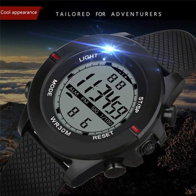 Esportes da forma Relógios Homens Alarme Relógio Masculino relógios de Pulso Digitais Relogio masculino hombre orologio relogo de fitness inteligente 4FN