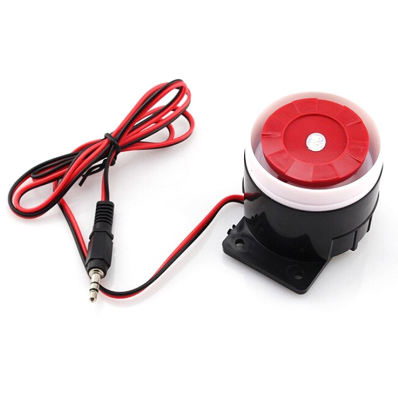 Mini Wired Siren Horn For Wireless Home Alarm Security System 120 DB Loudly Siren Safe Cable Alarm(China)