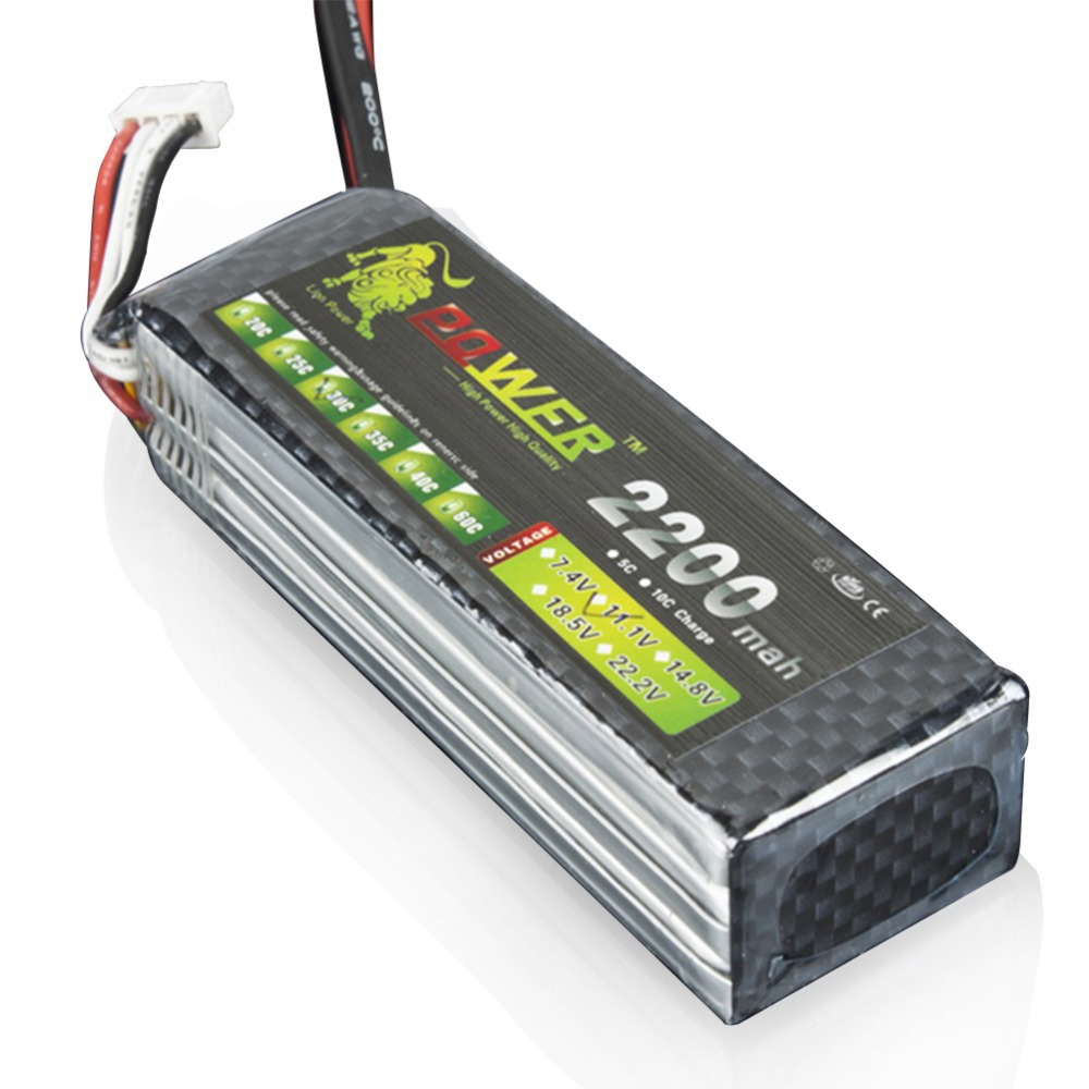 Lion Power Lipo 3s 111v 2200mah 30c Battery For Rc Helicopter Lippo Tplug Car Boat Quadcopter Remote Control Toys Accessories