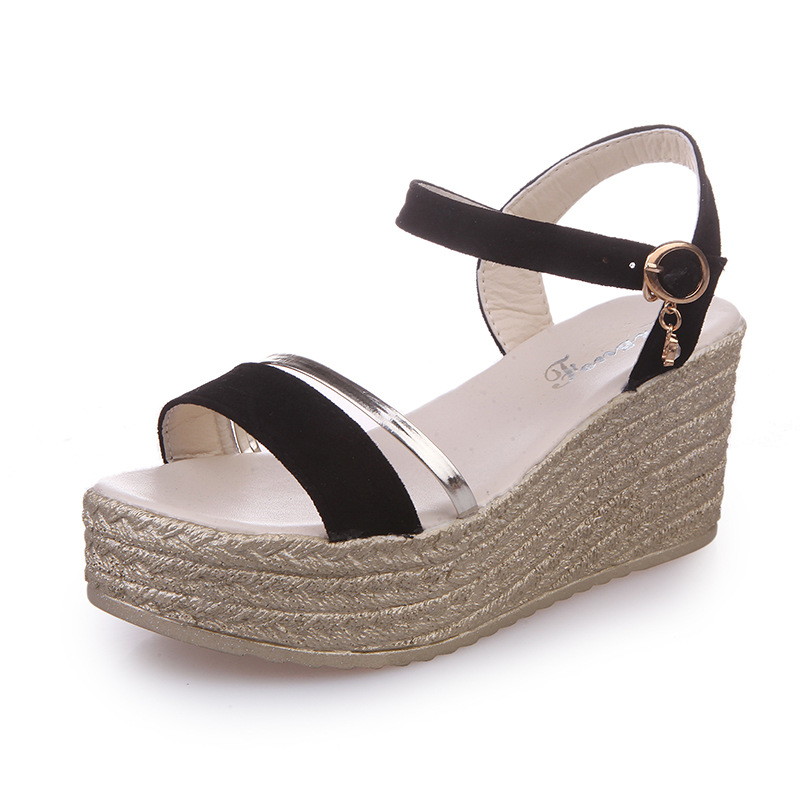KUIDFAR Women Sandals Wedges Shoes Woman Gladiator Sandals Open Toe Casual women's summer footwear Lady Shoes Platform Shoes 2017 gladiator summer shoes woman platform sandals women flats soft leather casual open toe wedges sandals women shoes r18