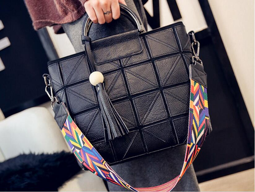 ФОТО  spring patchwork leather women's shoulder bag ladies one cross body first layer of cowhide