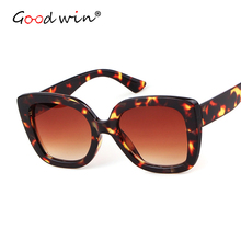 Good Win Woman Sunglasses Luxury Brand Designer Square Gradient For Women Men UV400 Mirror Vintage Retro Sun Glasses