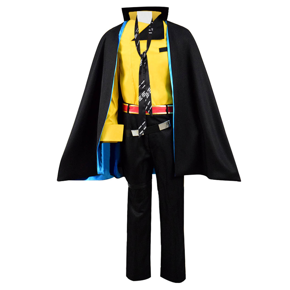 Solo A Star Wars Story Lando Calrissian cosplay Costume Full Set Halloween Cloak Cosdaddy
