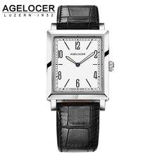 Switzerland AGELOCER Watches Women Luxury Quartz Waterproof Watch 6 Design Ladies Clock Genuine Leather Strap Wristwatches