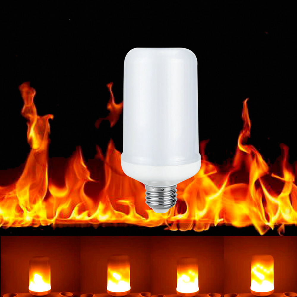E27 E26 LED Flame Effect Bulb Flicker Lamp Bulb Fire Light 7W Emulation Vintage Atmosphere Decorative Lamp Xmas/Party Decor bulb