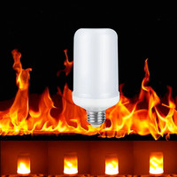 E27 E26 LED Flame Effect Bulb Flicker Lamp Bulb Fire Light 7W Emulation Vintage Atmosphere Decorative