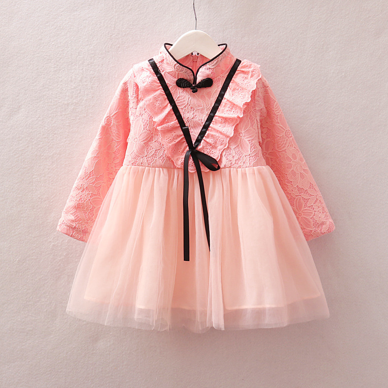 695f32b350cdb 2018 New autumn infant Baby Girl Dress Lace Baptism Dresses for Girls 1 4st  year birthday party wedding baby clothing-in Dresses from Mother & Kids on  ...