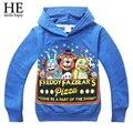 Дети спортивная одежда детская футболка Пять Ночей в Freddys мальчиков одежда С Длинным рукавом Осень стиль Мультфильм Толстовки 2016 новый