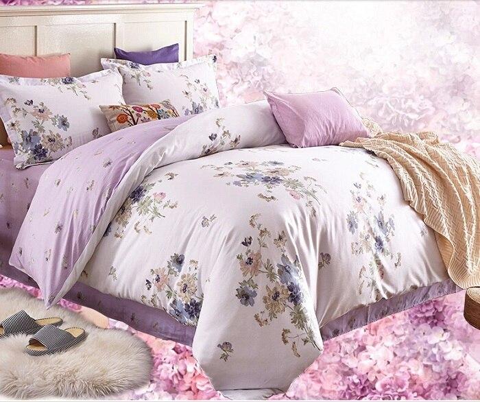 Wholesale! 4 Pcs Cotton Lilac Bedding Set Duvet/Quilt Cover Bed ... : lilac quilt cover - Adamdwight.com