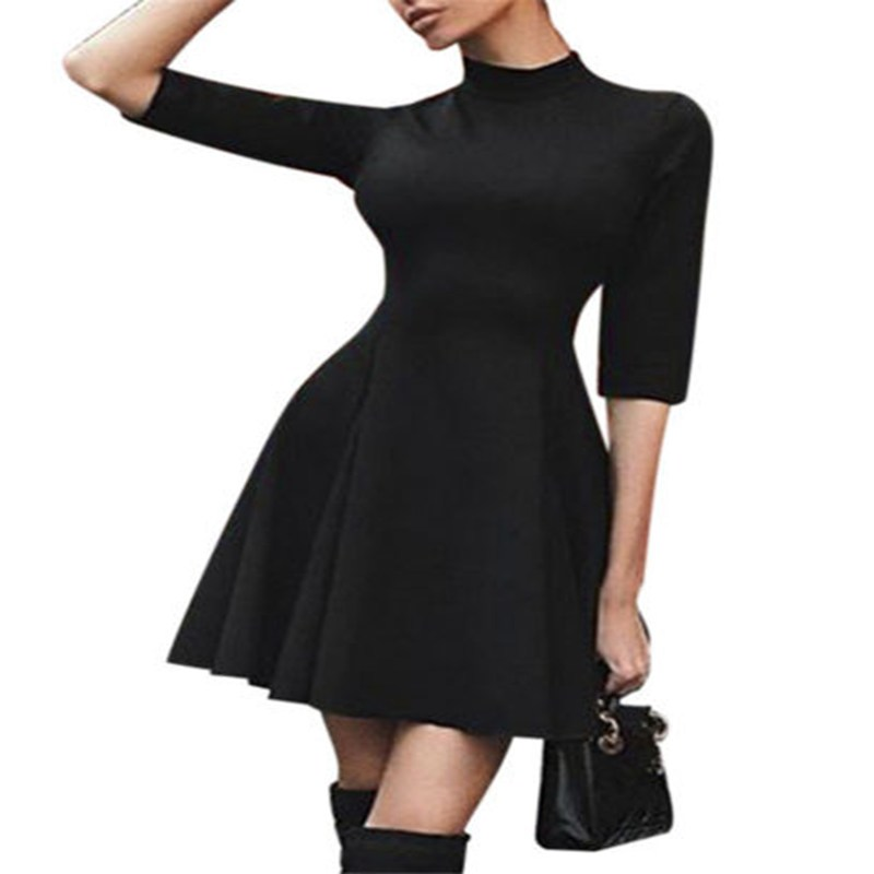 Fashion font b Women s b font Casual Turtle Neck Half Sleeve Bodycon Evening Party Sexy