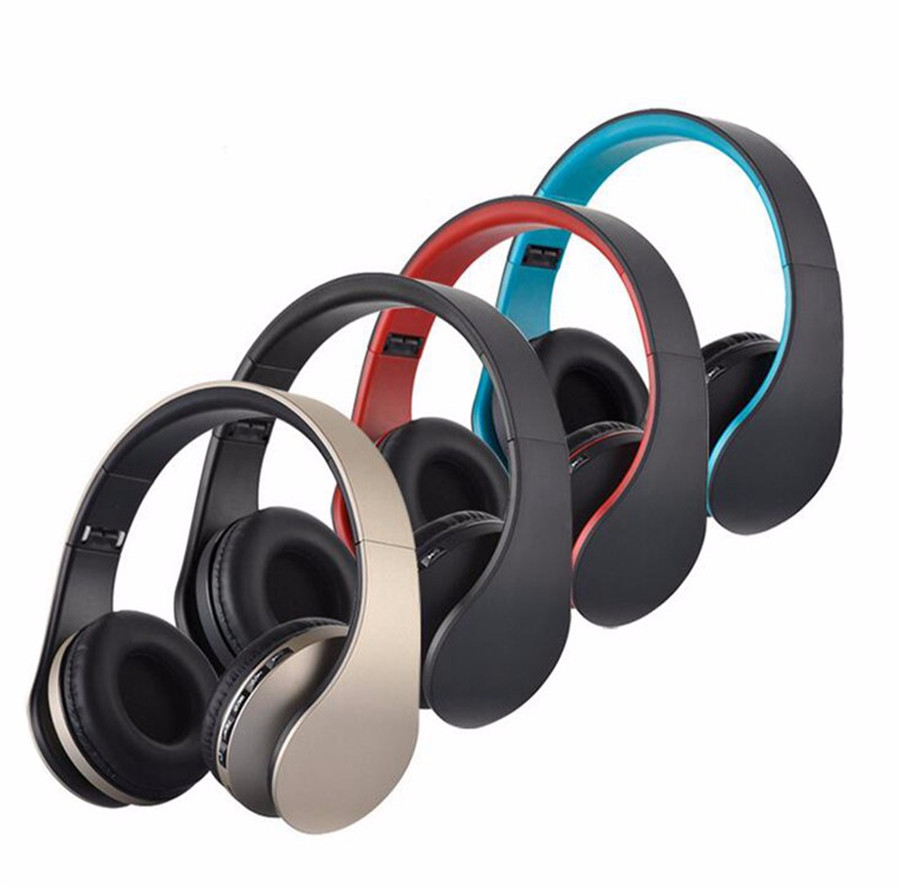 BT-81 Wireless Stereo Wired Bluetooth Heaphone Foldable EDR Earphone Handsfree Headset Mic MP3 FM for Phones Tablet PC
