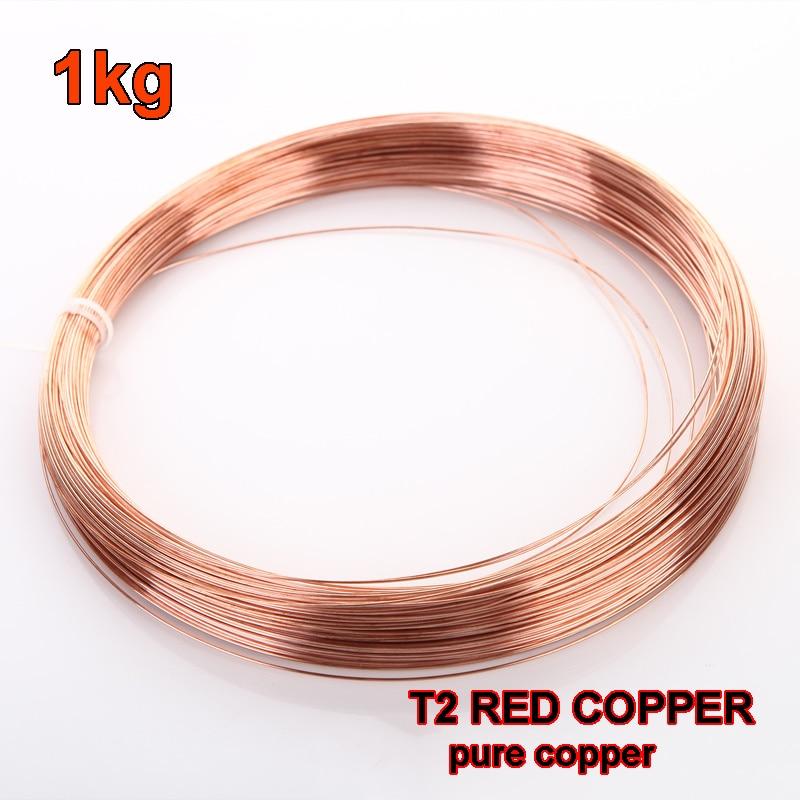 1 kg Red Copper line T2 Copper Wire Diameter 0 5 0 8 1 1 5