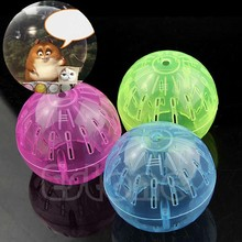 2019 1PC Hamster Ball Pet Rodent Mice Jogging Gerbil Rat Toy Plastic Exercise running Lovely For Small dog color random