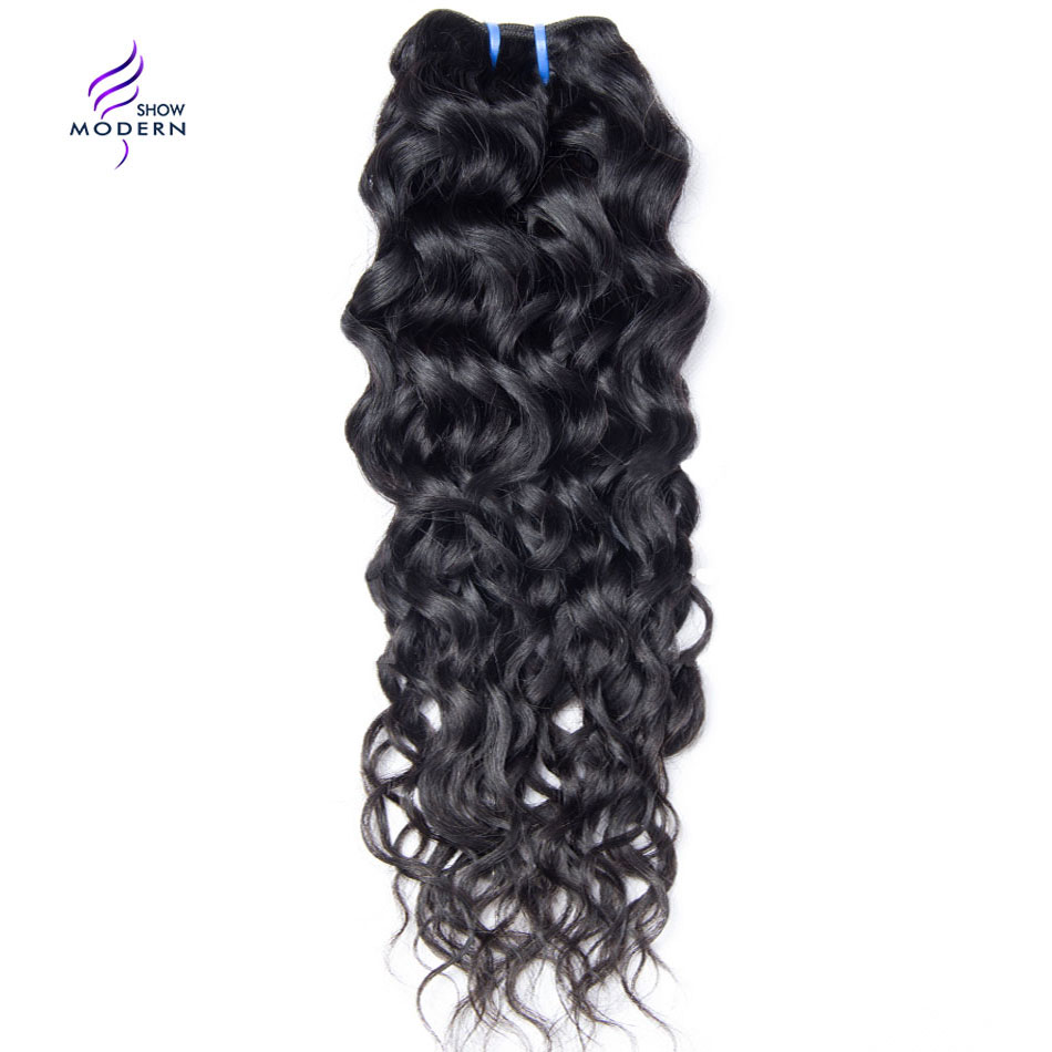 Modern Show Peruvian Water Wave Human Hair Weave Bundles 1 3 Pcs Only Natural Color None Remy Hair Extension 10-28 Free Shipping