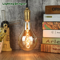 PS35 A110 Vintage Led Lamp Edison Bulb Soft LED Filament Decor Bulb 4W 220V Light Bulb
