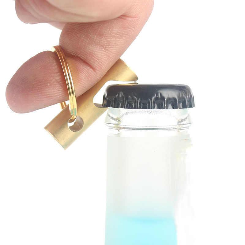 LẠI Sáng Tạo Tinh Khiết Brass Mở Chai Bia Chai Tuốc Nơ Vít vòng Chìa Khóa Cá Tính Keychain Mặt Dây Chuyền Ngoài Trời Di Động EDC Tiện Ích D0435
