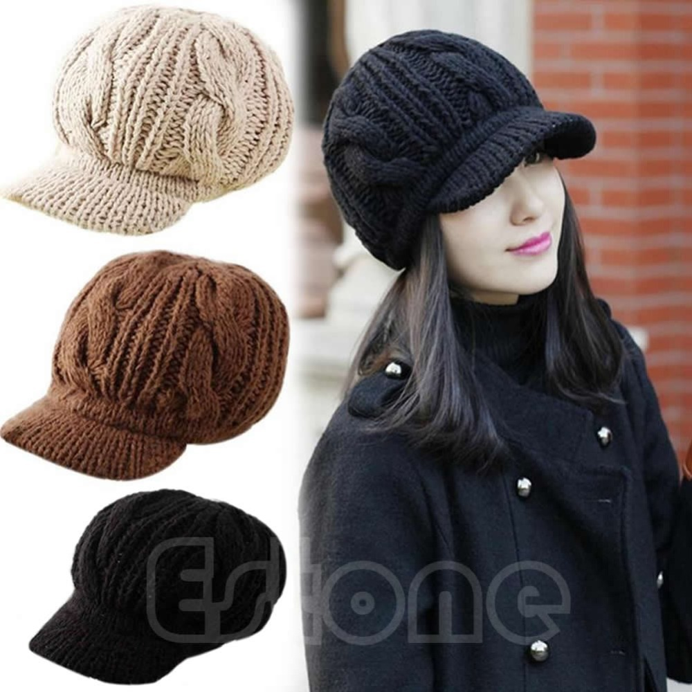 1PC Hot Fashion Korean Women Crochet Beanie Winter Warm Wool Knit Peaked Hat  Cap-in Skullies   Beanies from Apparel Accessories on Aliexpress.com  789d2018d73