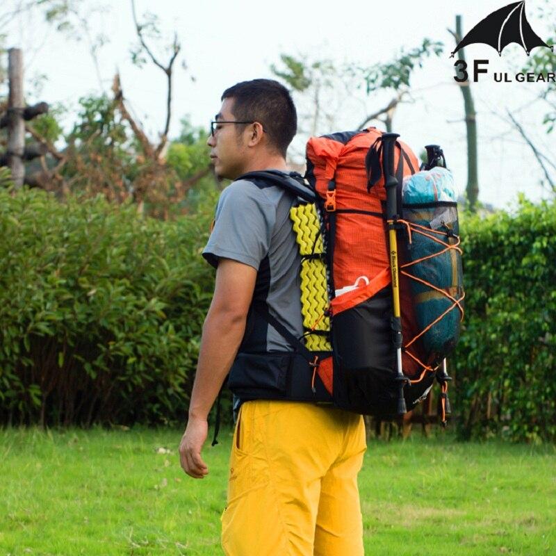 Sac à dos de randonnée résistant à l'eau sac de randonnée sac de randonnée léger Camping voyage alpinisme sacs à dos 40 + 16L UL