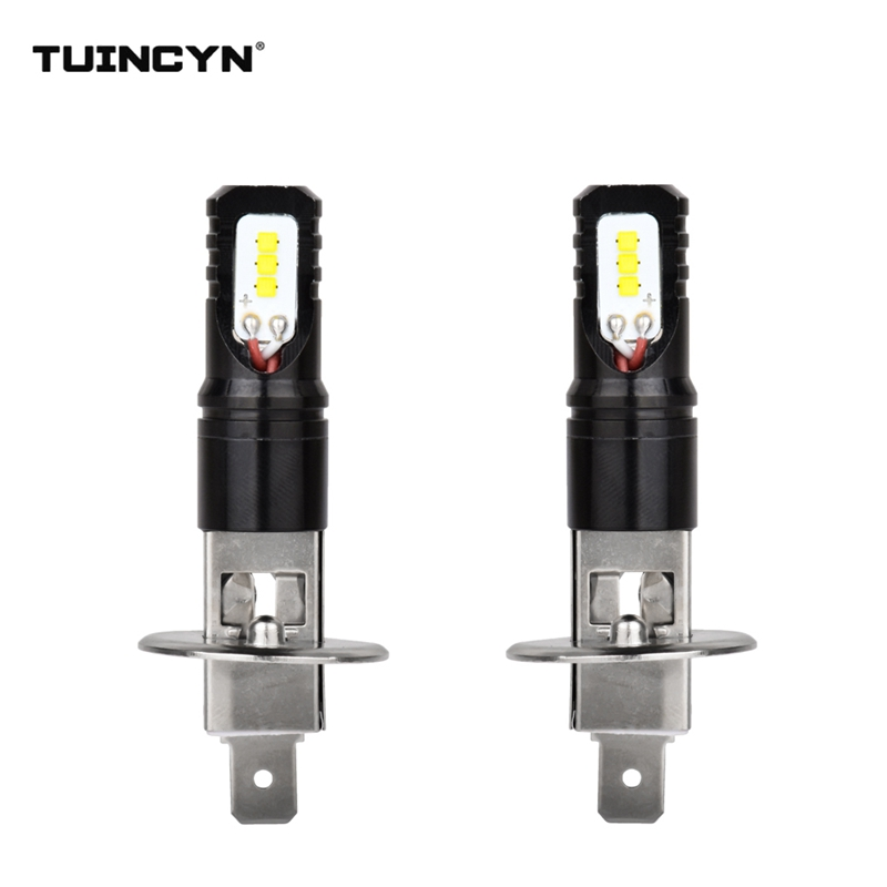 TUINCYN 2pcs H1 Led Bulbs for Cars CSP LED Chips Bulb Auto Led Light Fog Lamp Super Bright Auto Running Lights 6500K White DC12V приспособление для чистки поршневых канавок jtc 1349