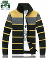 AFS Jeep New Design 2015 Winter Striped Thick Casual Sweater,Winter Warmly Man's woollen sweaters,2XL 3XL Cardigan Outwears