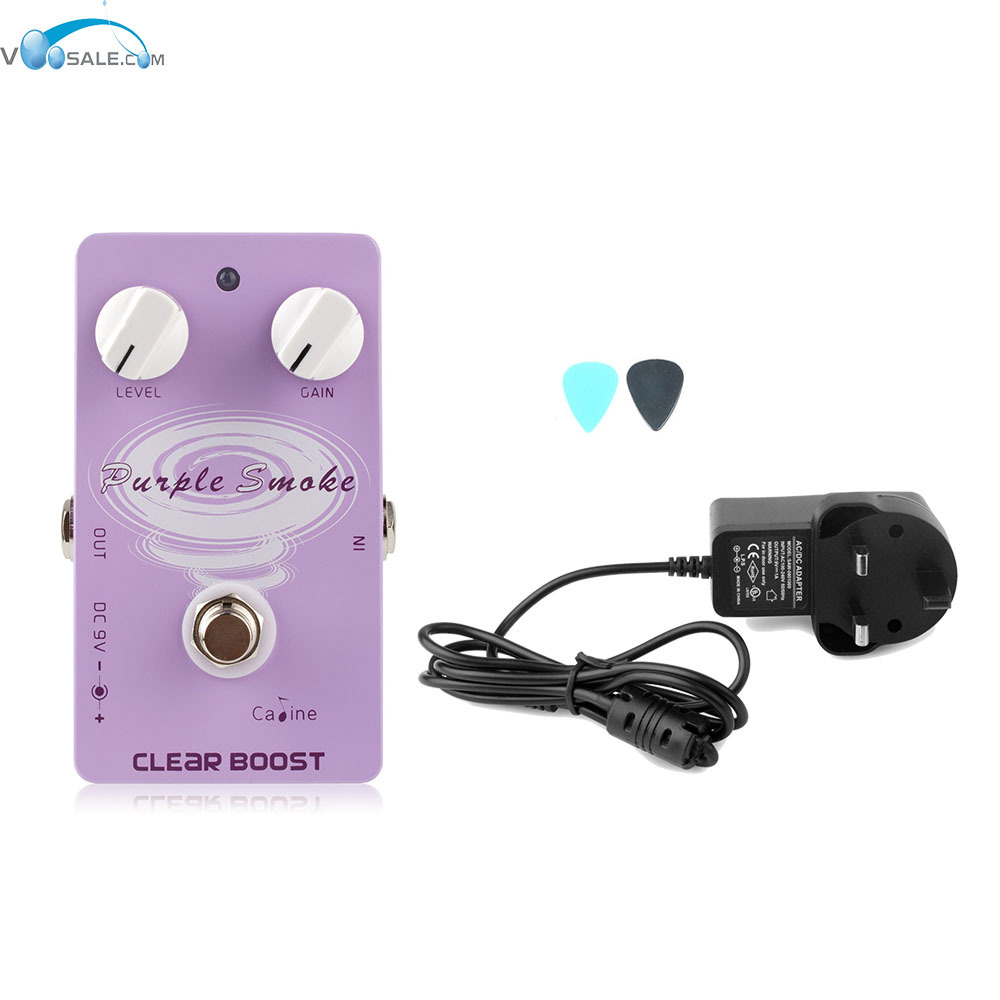 Caline CP-22 Clear Boost Guitar Effects Pedal  with Ture Bypass Pedals+AC100V-240V to DC9V/1A Adapter Use Have AU UK US EU Plug caline cp 10 hot mushroom compressor digital guitar effects pedal ac100v 240v to dc9v 1a adapter use have au uk us eu plug