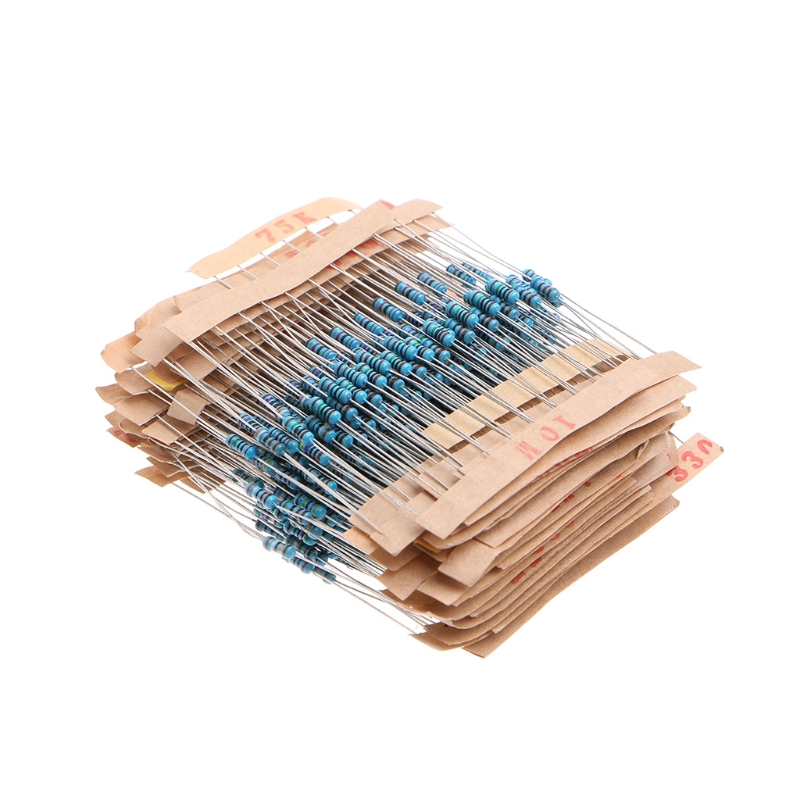 2019 hot sale 560 Pcs 56 Value 1/4W 5% Metal Film Resistor Assorted Kit Set 1 ohm-10M ohm