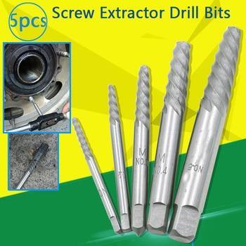 5pcs steel screw bolt extractors game broken pipe damaged screw removal break broken extractor Double Side Screw Extractor