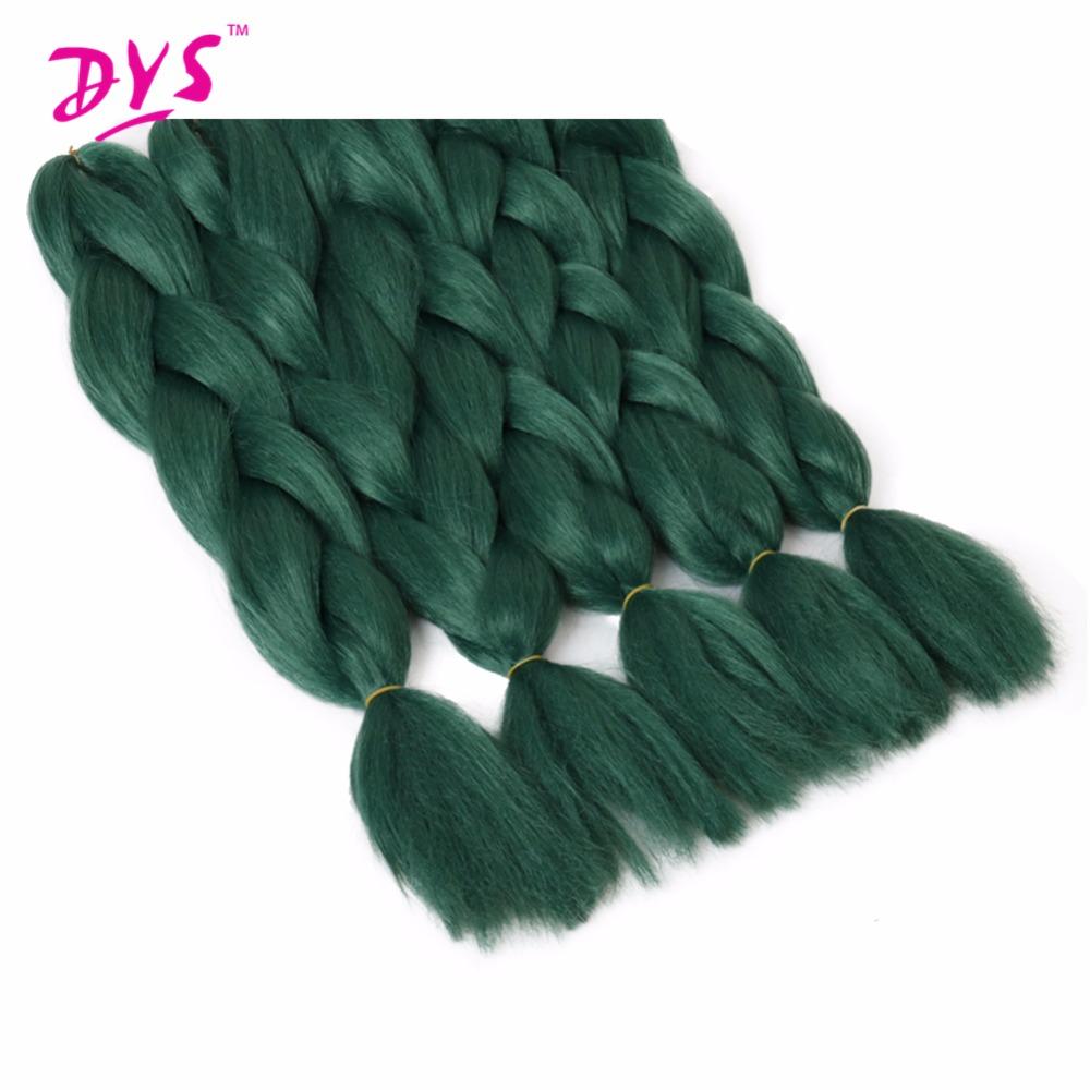 deyngs натурального синтетического плетения волос 24 дюймов чистый зеленый цветной вязанная косами Джамбо волос косы плетение объемных волос