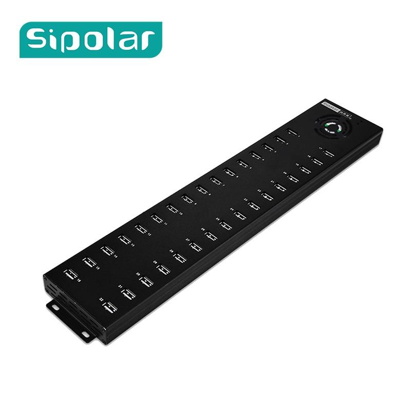 Sipolar 32 Industrial Portas de Dados de Multi USB 2.0 Hub Com Adaptador De Energia E Carregador Rápido Para O Telefone Tablet Reparação Remodelação