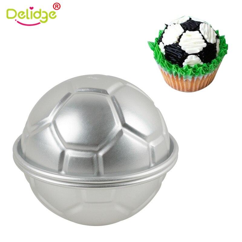 Us 2 21 34 Off Delidge 2 Teile Satz Aluminium Fussball Kuchen Form Welt Tasse 3d Fussball Ball Kuchen Fondant Dekoration Form Pudding Backen