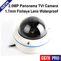 2MP Panoramic CCTV 1080P TVI Camera Full View 180/360 Degree 1.7mm Fisheye Lens Weatherproof IP66 Surveillance Cameras