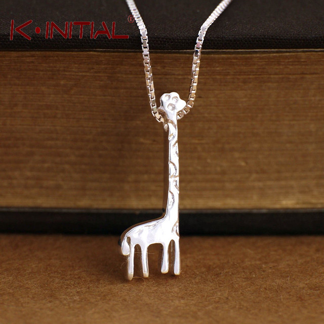 Kinitial giraffe pendant necklace 925 sterling silver charm animal kinitial giraffe pendant necklace 925 sterling silver charm animal giraffe necklaces jewelry vintage mothers love gift aloadofball Choice Image
