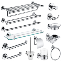 Mirror Plated Bathroom Hardware Set Wall Mounted Soap Dish Robe Hook Towel Ring Roll Paper Holder Toilet Brush Holder SUS 304 aodeyi black sus 304 stainless steel bath hardware set brush holder paper holder towel bar shelf soap dish robe hook