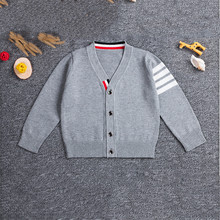 ddd45f91f Kids Autumn Winter Cotton Sweater Top Baby Children School Clothing Boys  Girls Knitted Cardigan Sweater Spring