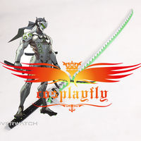 Game OW Over and Watch Genji PVC Cosplay Sword Prop Halloween Easter for Costume D0112