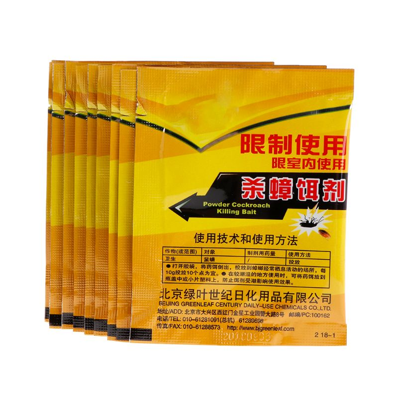 10 Bags Effective Medicine Cockroach Killer Bait Powder Insecticide Repeller Trap Home Gardening Pest Control Products