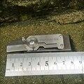 Sentinel мини EDC маленький прямой нож титановый бесшовный сварочный CNC двухканальный свисток нож