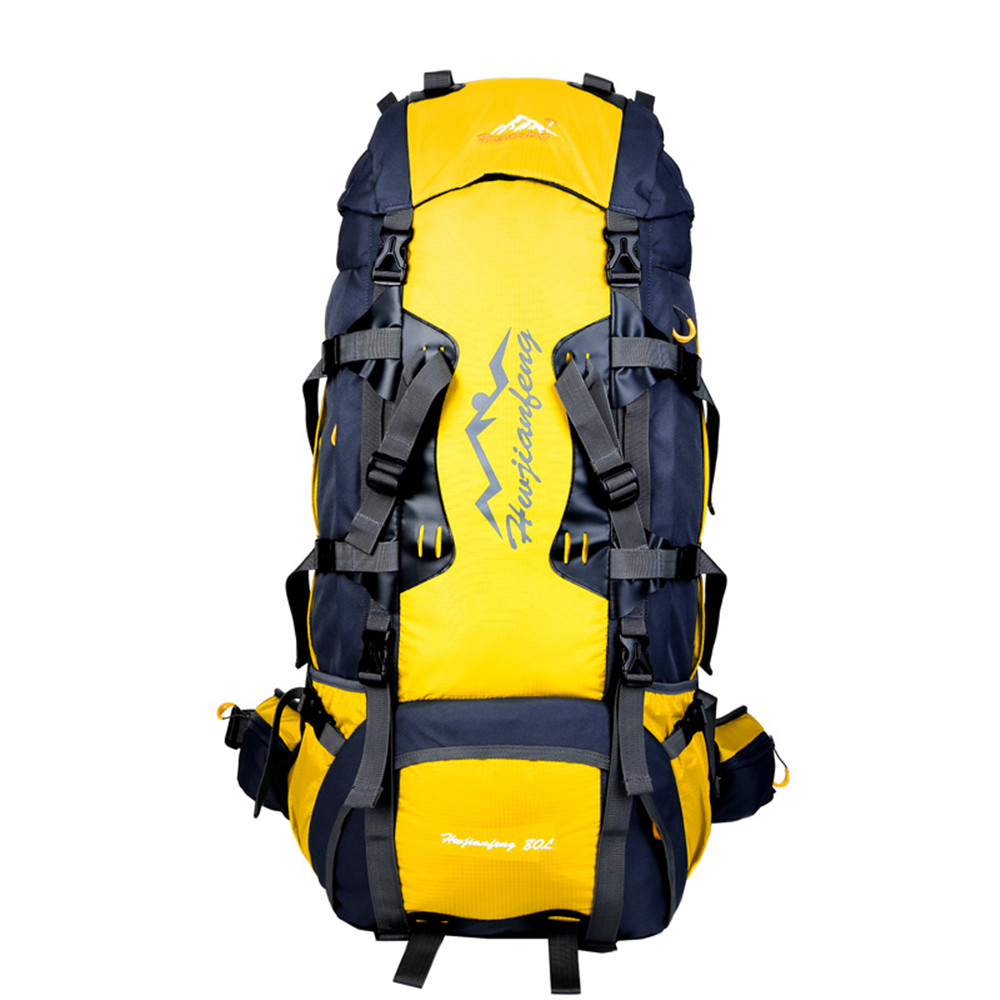 цена 13126 80L Large Capacity Climbing Mountaineering Backpack Rucksach Mens' Outdoor Camping Trekking Camping Bag