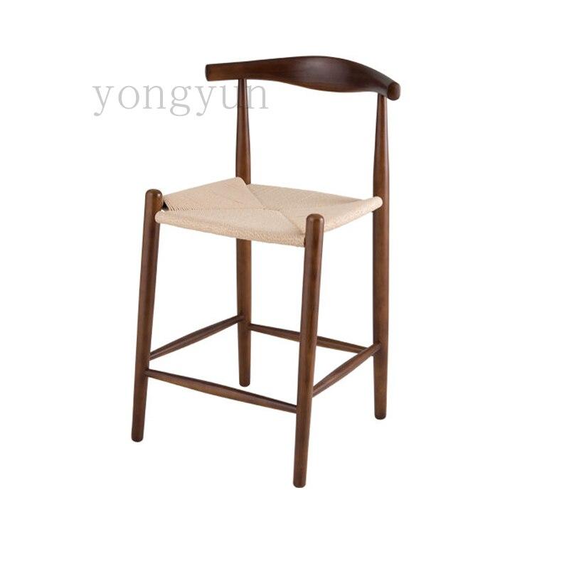 Us 3880 Darmowa Wysyłka Drewniane Krzesła Moda Recepcji Bar Taboret Krzesełko Minimalistyczny Nowoczesne Drewniane Ratten Krzesło Do Jadalni W
