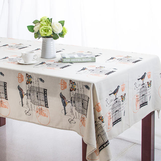 Linen Tablecloth Tablecover Country Style Printed Home/Outdoor/Party  Size:90*90